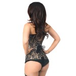 Lavish Tan Lace Overlay Overbust Corset at Burlesque Diva, Celebrate Burlesque - Costumes, Shoes, and Accessories for Performers