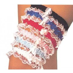 Assorted Leg Garters with Lace Burlesque Diva Celebrate Burlesque - Costumes, Shoes, and Accessories for Performers