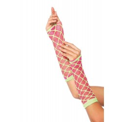Duel Net Neon Arm Warmers Burlesque Diva Celebrate Burlesque - Costumes, Shoes, and Accessories for Performers