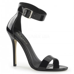 Amuse Black Ankle Strap Sandal Burlesque Diva Celebrate Burlesque - Costumes, Shoes, and Accessories for Performers