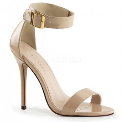 Amuse Cream Ankle Strap Sandal Burlesque Diva Celebrate Burlesque - Costumes, Shoes, and Accessories for Performers