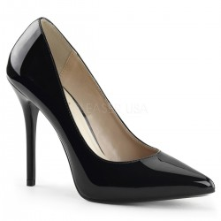 Amuse Black 5 Inch High Heel Pump Burlesque Diva Celebrate Burlesque - Costumes, Shoes, and Accessories for Performers