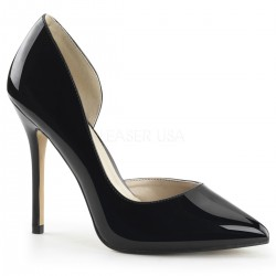 Amuse Black 5 Inch High Open Side Pump Burlesque Diva Celebrate Burlesque - Costumes, Shoes, and Accessories for Performers