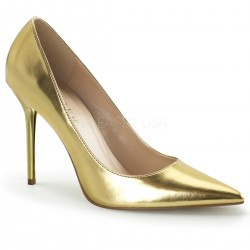 Gold Classique Pointed Toe Pump Burlesque Diva Celebrate Burlesque - Costumes, Shoes, and Accessories for Performers