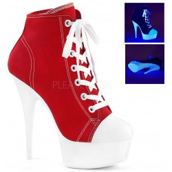 Red and White High Heel Platform Sneaker Burlesque Diva Celebrate Burlesque - Costumes, Shoes, and Accessories for Performers