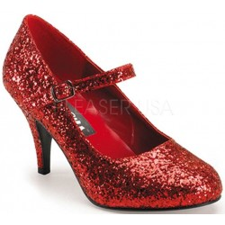 Glinda Red Glittered Mary Jane Pump Burlesque Diva Celebrate Burlesque - Costumes, Shoes, and Accessories for Performers