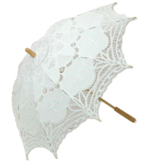 White Battenburg Lace Parasol at Burlesque Diva, Celebrate Burlesque - Costumes, Shoes, and Accessories for Performers