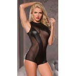 Mesh Cutaway Bodysuit in Red or Black at Burlesque Diva, Celebrate Burlesque - Costumes, Shoes, and Accessories for Performers