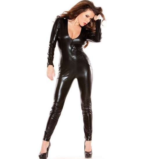 Kitten Wet Look Lycra Catsuit at Burlesque Diva, Celebrate Burlesque - Costumes, Shoes, and Accessories for Performers