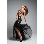 Fantasy Mermaid Black Cage Strap Gown at Burlesque Diva, Celebrate Burlesque - Costumes, Shoes, and Accessories for Performers