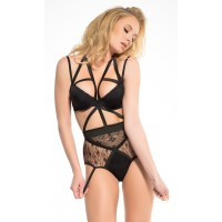 Angel of Love Black Lace Teddy