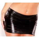 Wet Look Slashed Mini Skirt at Burlesque Diva, Celebrate Burlesque - Costumes, Shoes, and Accessories for Performers