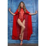 Coco Red Sheer Cape at Burlesque Diva, Celebrate Burlesque - Costumes, Shoes, and Accessories for Performers