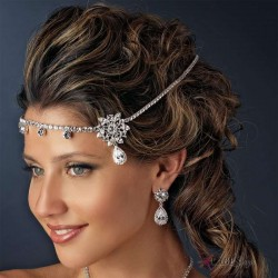 Kim Kardasian Inspired Bridal Headband Burlesque Diva Celebrate Burlesque - Costumes, Shoes, and Accessories for Performers