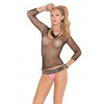 Long Sleeve Fence Net Unisex Shirt at Burlesque Diva, Celebrate Burlesque - Costumes, Shoes, and Accessories for Performers