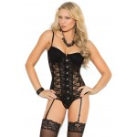 Lace Bustier with Garters at Burlesque Diva, Celebrate Burlesque - Costumes, Shoes, and Accessories for Performers