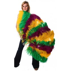 Mardis Gras Ostrich Feather Full Body Fan Burlesque Diva Celebrate Burlesque - Costumes, Shoes, and Accessories for Performers