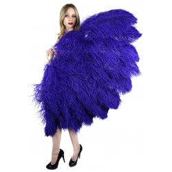 Purple Ostrich Feather Full Body Fan Burlesque Diva Celebrate Burlesque - Costumes, Shoes, and Accessories for Performers