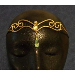 Two Crystal Bronze Circlet Burlesque Diva Celebrate Burlesque - Costumes, Shoes, and Accessories for Performers