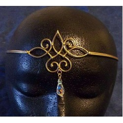 Bronze Circlet with Crystal Drop Burlesque Diva Celebrate Burlesque - Costumes, Shoes, and Accessories for Performers