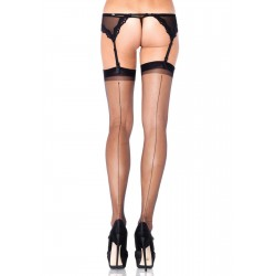 Black Spandex Backseam Garter Stockings - Pack of 3 Burlesque Diva Celebrate Burlesque - Costumes, Shoes, and Accessories for Performers