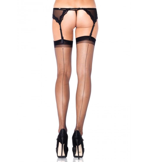 Black Spandex Backseam Garter Stockings - Pack of 3 at Burlesque Diva, Celebrate Burlesque - Costumes, Shoes, and Accessories for Performers