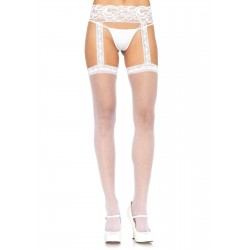 Lace Garter Belt Suspender Sheer Stockings  - Pack of 3 Burlesque Diva Celebrate Burlesque - Costumes, Shoes, and Accessories for Performers