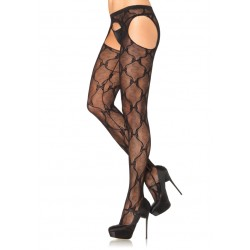 Bow Lace Suspender Panythose - Pack of 3 Burlesque Diva Celebrate Burlesque - Costumes, Shoes, and Accessories for Performers