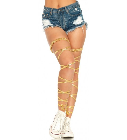 Gold Leg Wraps at Burlesque Diva, Celebrate Burlesque - Costumes, Shoes, and Accessories for Performers