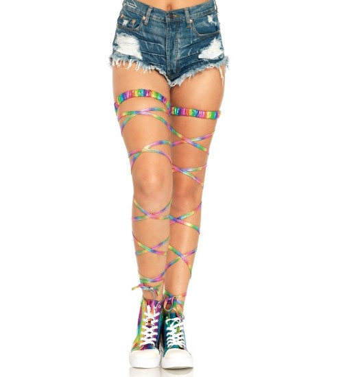 Rainbow Leg Wraps at Burlesque Diva, Celebrate Burlesque - Costumes, Shoes, and Accessories for Performers