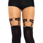 Black Heart Leg Garters at Burlesque Diva, Celebrate Burlesque - Costumes, Shoes, and Accessories for Performers