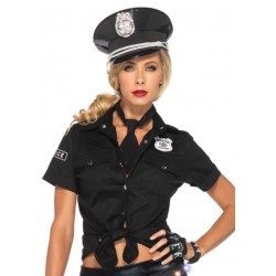 Police Woman Costume Shirt Burlesque Diva Celebrate Burlesque - Costumes, Shoes, and Accessories for Performers