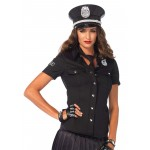 Police Woman Costume Shirt at Burlesque Diva, Celebrate Burlesque - Costumes, Shoes, and Accessories for Performers