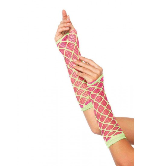 Duel Net Neon Arm Warmers at Burlesque Diva, Celebrate Burlesque - Costumes, Shoes, and Accessories for Performers