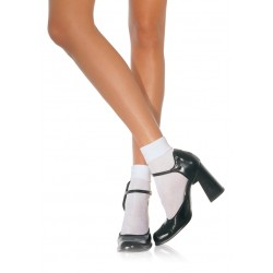 White Cuffed Anklets for Women Burlesque Diva Celebrate Burlesque - Costumes, Shoes, and Accessories for Performers