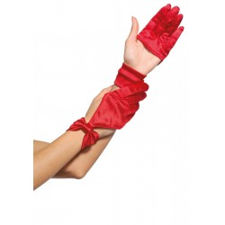 Satin Cut Out Gloves Burlesque Diva Celebrate Burlesque - Costumes, Shoes, and Accessories for Performers