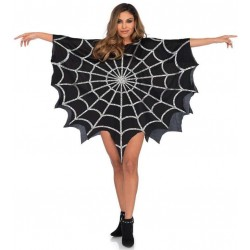 Spider Web Black Unisex Glitter Poncho Burlesque Diva Celebrate Burlesque - Costumes, Shoes, and Accessories for Performers