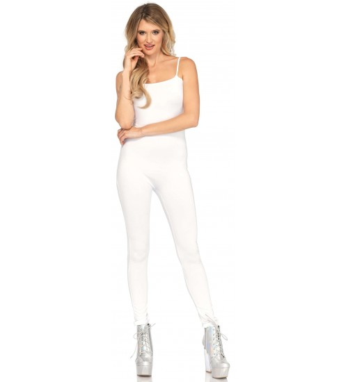 Basic Womens Unitard in White at Burlesque Diva, Celebrate Burlesque - Costumes, Shoes, and Accessories for Performers