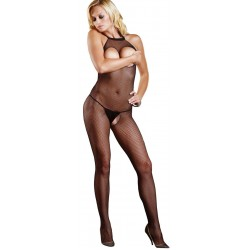 Fishnet Open Bust Bodystocking Burlesque Diva Celebrate Burlesque - Costumes, Shoes, and Accessories for Performers