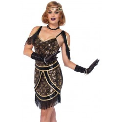Speakeasy Sweetie Womens Flapper Costume Burlesque Diva Celebrate Burlesque - Costumes, Shoes, and Accessories for Performers