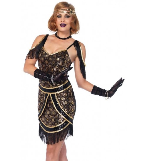 Speakeasy Sweetie Womens Flapper Costume at Burlesque Diva, Celebrate Burlesque - Costumes, Shoes, and Accessories for Performers