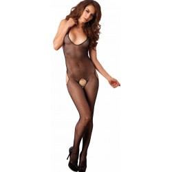 Halter Fishnet Suspender Bodystocking Burlesque Diva Celebrate Burlesque - Costumes, Shoes, and Accessories for Performers