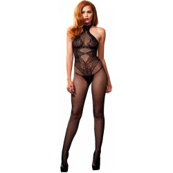 Floral Lace Hourglass Black Bodystocking Burlesque Diva Celebrate Burlesque - Costumes, Shoes, and Accessories for Performers