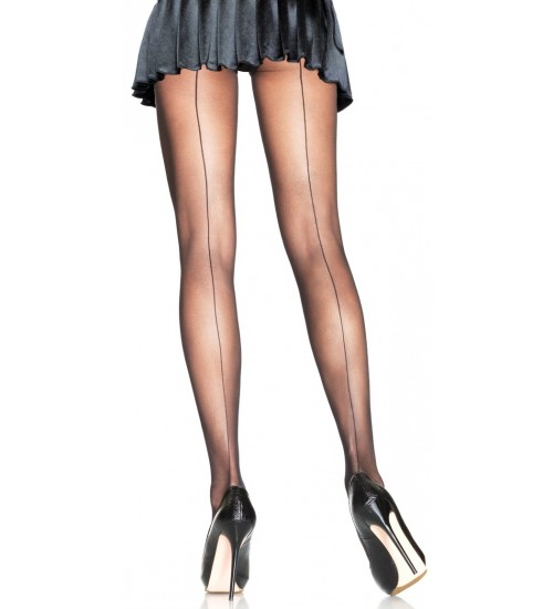 Backseam Sheer Pantyhose at Burlesque Diva, Celebrate Burlesque - Costumes, Shoes, and Accessories for Performers