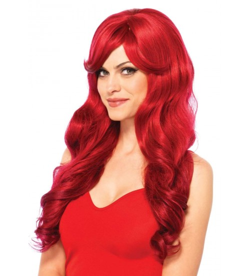 Extra Long Red Wavy Wig at Burlesque Diva, Celebrate Burlesque - Costumes, Shoes, and Accessories for Performers