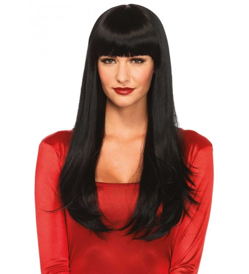 Black Banging Long Straight Wig at Burlesque Diva, Celebrate Burlesque - Costumes, Shoes, and Accessories for Performers