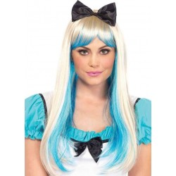 Alice Costume Wig with Bow Burlesque Diva Celebrate Burlesque - Costumes, Shoes, and Accessories for Performers