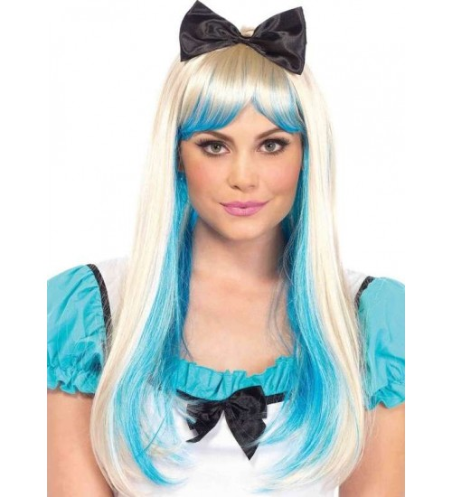 Alice Costume Wig with Bow at Burlesque Diva, Celebrate Burlesque - Costumes, Shoes, and Accessories for Performers
