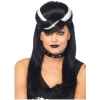 Frankie Bouffant Long Black Gothic Costume Wig