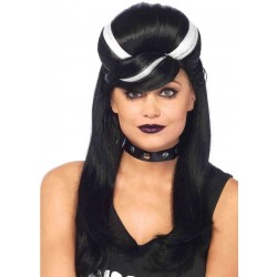Frankie Bouffant Long Black Gothic Costume Wig Burlesque Diva Celebrate Burlesque - Costumes, Shoes, and Accessories for Performers